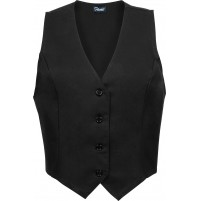 Female Fitted Uniform Vest, Black