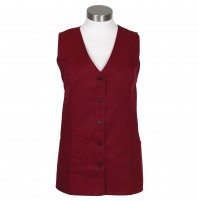 Female Tunic Uniform Vest, Burgundy