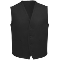 Unisex Uniform Vest, 2 Pocket, Black