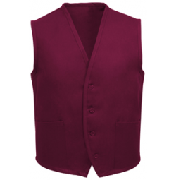 Unisex Uniform Vest, 2 Pocket, Burgundy