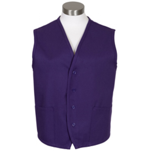 Unisex Uniform Vest, 2 Pocket, Purple