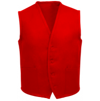 Unisex Uniform Vest, 2 Pocket, Red