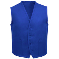 Unisex Uniform Vest, 2 Pocket, Royal Blue