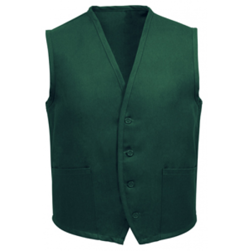 Unisex Uniform Vest, 2 Pocket, Hunter Green