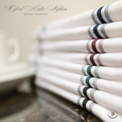 Stripe Bistro Napkins, Imported