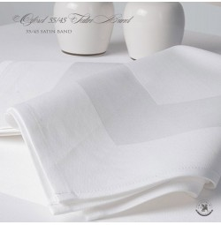 Premium Blend Satin Band Linen Napkins-55/45