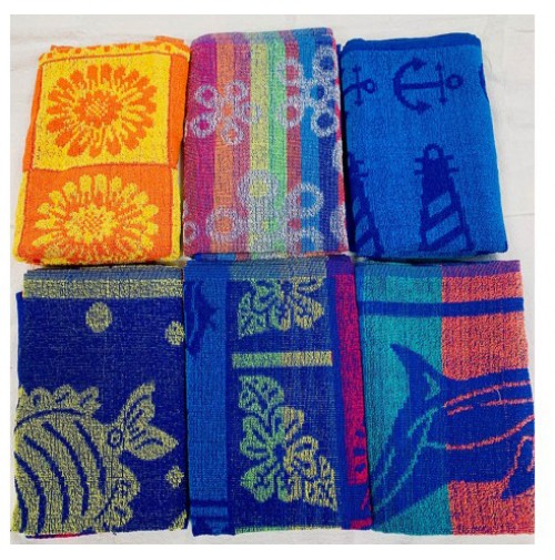 Economy Pool Towels, 6 Design Assortment
