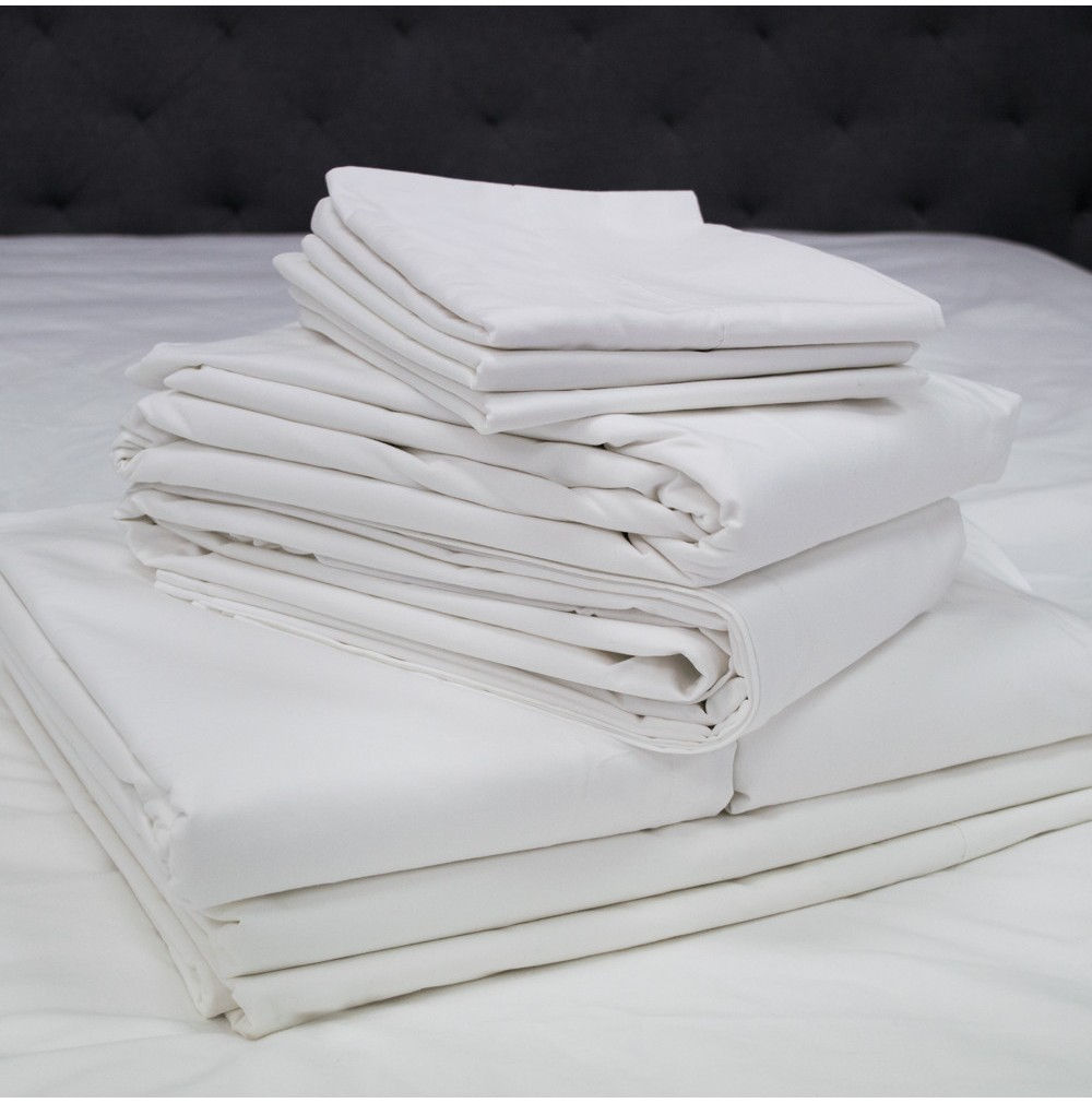 12 queen white hotel flat sheets t200 percale 90x110 high quality american made