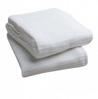Open Weave Thermal Blanket, White,  66 x 90