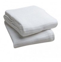 Open Weave Thermal Blanket, White