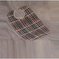 Plaid Adult Bib with Barrier