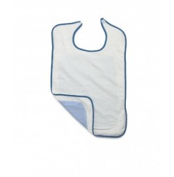 Adult Terry Bib with Partial Barrier