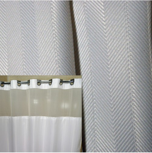 HANG2IT Herringbone Shower Curtain