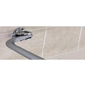 Polished Chrome Curved Shower Curtain Rod