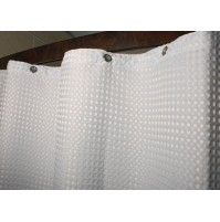 Waffle Executive Flame Retardant Shower Curtain
