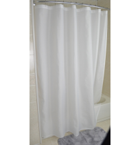 Karlon White Shower Curtain