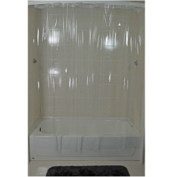 See Thru Vinyl Shower Curtain
