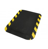"Hog Heaven® 7/8"" Anti-fatigue Mats OSHA Striped Border"