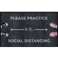 Please Practice Social Distancing Floor Mats