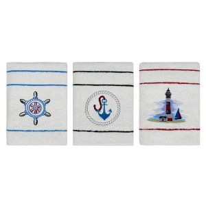 Marine Stripe Pool Towel Set with Embroidery