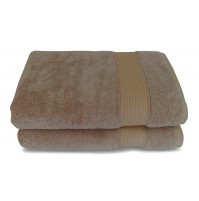 Salbakos Turkish Taupe Silk Blend Towel