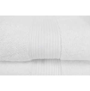 Turkish White Silk Blend Towel