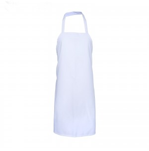 Large Cut Bib Apron with Tubular Braid Ties