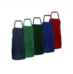 3-Pocket Bib Apron with Tubular Braid Ties