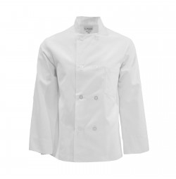 C108WH Pinnacle White Chef Coat, 8 Pearl Buttons