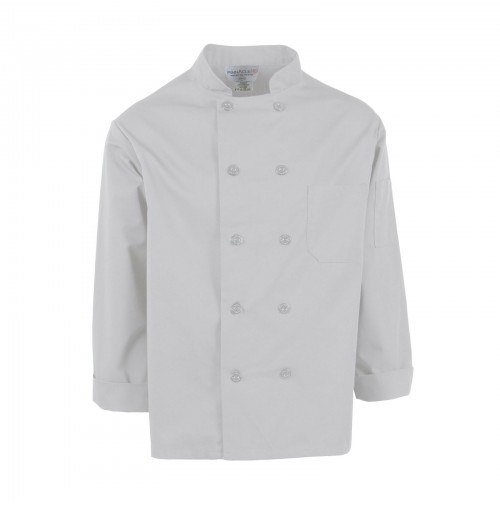 C310WH Pinnacle White Chef Coat, 10 Buttons