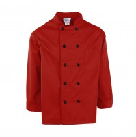 C310RD Pinnacle Red Chef Coat, 10 Buttons