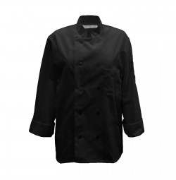 C390 Pinnacle Black Chef Coat