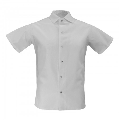 Pinnacle S315 White Cook Shirts, No Pocket