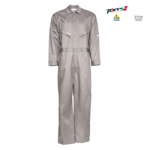 CC01 Gray Flame Resistant Oil Field Coverall