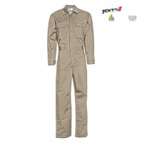 CC03 Khaki Flame Resistant Middleweight Economy Coverall