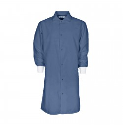 F182 Postman Blue Medical Cover Up Lab Coat