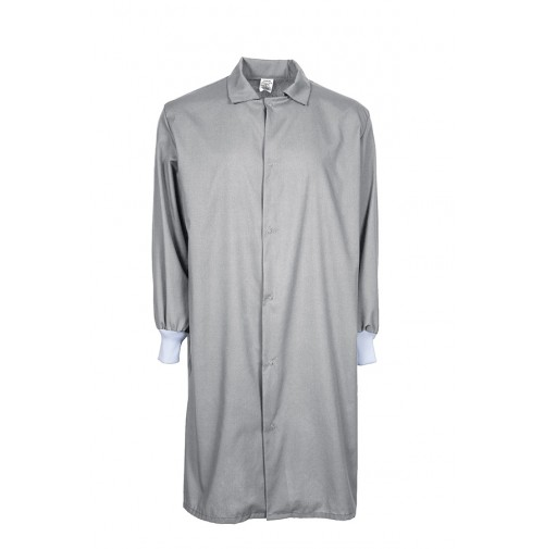 F182 Grey Medical Cover Up Lab Coat