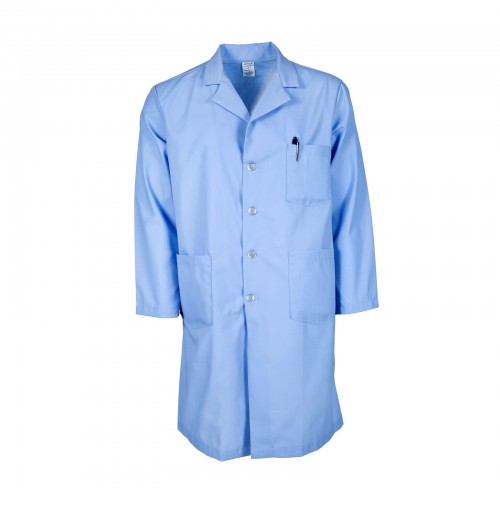 L17M Light Blue Men's Lab Coat
