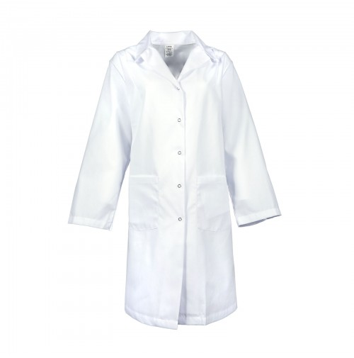 L18F Women's Gripper Snap Lab Coat