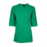 Smock Wrap Gown, 3 Pocket, Kelly Green