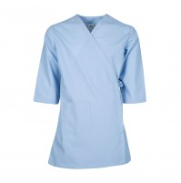 Smock Wrap Gown, 3 Pocket, Light Blue
