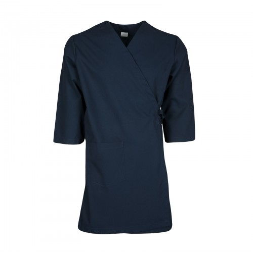 Smock Wrap Gown, 3 Pocket, Navy Blue