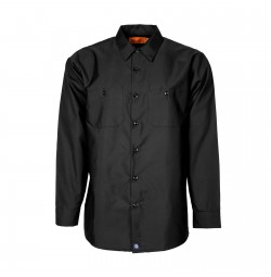 S10BL Men's Industrial Work Shirt, Black