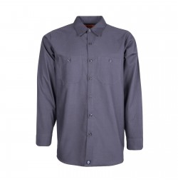 S10CG Men's Industrial Work Shirt, Charcoal Gray