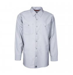 S10GY Men's Industrial Work Shirt, Gray
