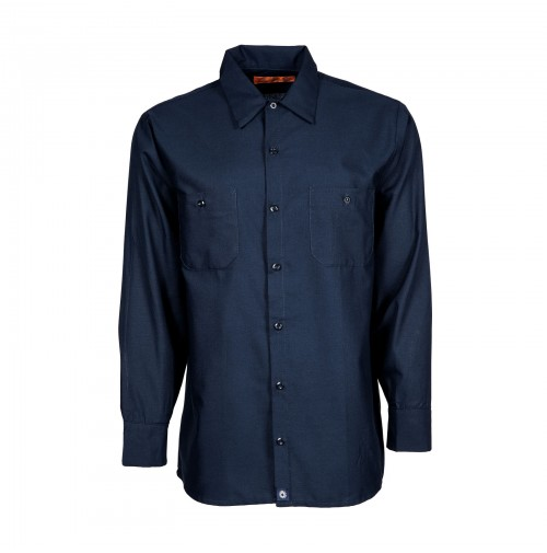 S10NV Men's Industrial Work Shirt, Navy Blue