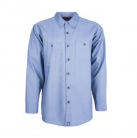 S10PB Men's Industrial Work Shirt, Postman Blue