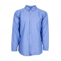 Women's Long Sleeve Work Shirt, Gulf Blue