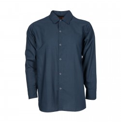 S14NV Men's Long Sleeve Work Shirt, Navy Blue
