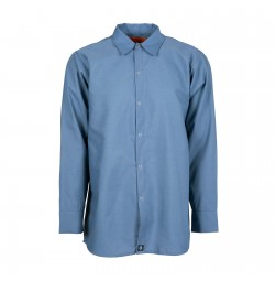 S14PB Men's Long Sleeve Work Shirt, Postman Blue